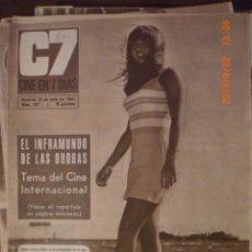 Cine: CINE EN 7 DIAS Nº 327 15-7-1967 MARIE FRANCE PISSIER. Lote 33361778