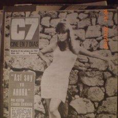 Cine: CINE EN 7 DIAS Nº 341 21-10-1967 CLAUDIA CARDINALE. Lote 33361837
