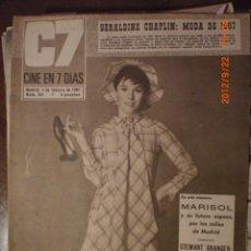 Cine: CINE EN 7 DIAS Nº 304 4-2-1967 GERALDINE CHAPLIN. Lote 33361913