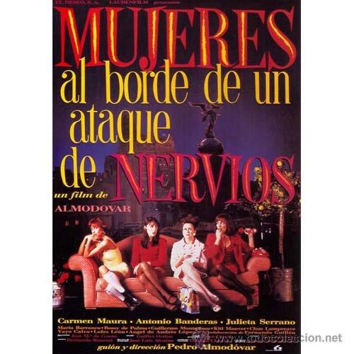 Cine: LOTE 5 LAMINAS. DIFERENTES IMAGENES 40 x 30 CM : CARTELES PELICULAS DE PEDRO ALMODOVAR. - Foto 4 - 48813149