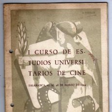 Cinéma: 1º CURSO DE ESTUDIOS UNIVERSITARIOS DE CINE SALAMANCA MARZO 1954. Lote 33634728