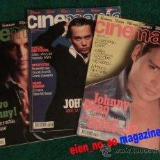 Cine: CINEMANIA ~ LOTE DE 3 REVISTAS ~ NÚMS. 13/1996, 33/1998, 48/1999 ~ JOHNNY DEPP. Lote 33706828
