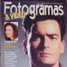 Cine: FOTOGRAMAS Nº 1.781 ENERO 1992. Lote 33865747