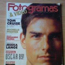 Cine: REVISTA CINE FOTOGRAMAS ABRIL 1990. TOM CRUISE // MICHELLE PFEIFFER // JESSICA LANGE. Lote 34154355
