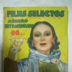 Cine: REVISTA FILM SELECTOS NUMERO EXTRAORDINARIO OCTUBRE 1934. Lote 34187728