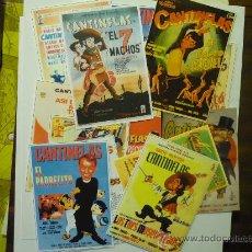 Cine: LOTE DE REPRODUCCIONES DE CARTELES Y DE PROGRAMAS PELICULAS DE CANTINFLAS. Lote 34503696
