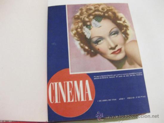 REVISTA CINEMA ENCUADERNADA - TOMO DEL PRIMER AÑO DE PUBLICACION - 17 NUMEROS - 1946 (Cine - Revistas - Cinema)