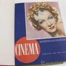 REVISTA CINEMA ENCUADERNADA - TOMO DEL PRIMER AÑO DE PUBLICACION - 17 NUMEROS - 1946