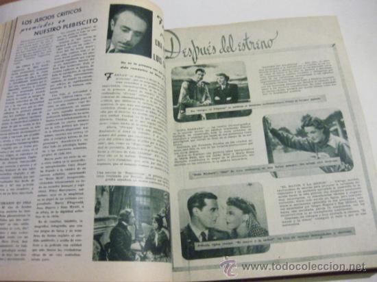 Cine: REVISTA CINEMA ENCUADERNADA - TOMO DEL PRIMER AÑO DE PUBLICACION - 17 NUMEROS - 1946 - Foto 2 - 34515644
