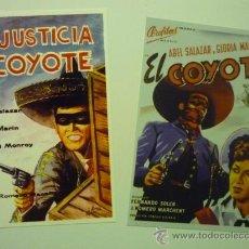 Cinema: LOTE CARTELES FOTO PELICULA EL COYOTE -LA JUSTICIA DEL COYOTE - ABEL SALAZAR. Lote 34550431