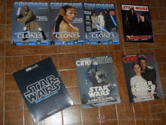STAR WARS. LOTE CINEMANIA ATAQUE DE LOS CLONES (Cine - Revistas - Cinemanía)