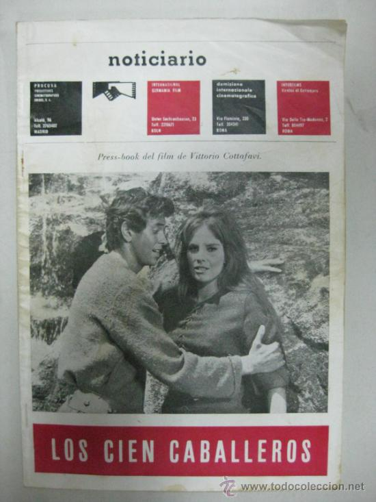NOTICIARIO - PRESS-BOOK DEL FILM DE VITTORIO COTTAFAVI - LOS CIEN CABALLEROS (Cine - Revistas - Otros)