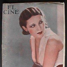 Cine: REVISTA EL CINE, BARCELONA 24/7/1930, PORTADA RAQUEL TORRES,. Lote 34627837