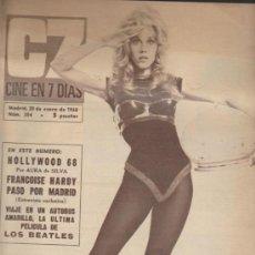 Cine: CINE EN 7 DÍAS Nº 354. ENERO DE 1968.. Lote 34704930