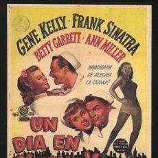 Cine: P-0196- UN DÍA EN NUEVA YORK (ON THE TOWN) (COPIA FORMATO FOLLETO MANO) GENE KELLY - FRANK SINATRA. Lote 34742396