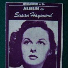 Cine: ALBUM ACTORES Y ACTRICES - EDITADO POR FOTOGRAMAS - SUSAN HAYWARD - Nº 34 - 1980 ? - 1ª EDICION. Lote 267170459