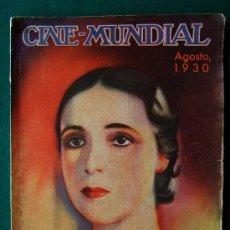 Cine: CINE-MUNDIAL - REVISTA MENSUAL CINEMATOGRAFICA - BILBAO - Nº 8 - 1930 - 1ª EDICION. Lote 34858419