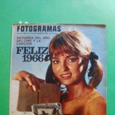 Cine: FOTOGRAMAS 31/12/1965 Nº 898 RESUMEN DEL AÑO DEL CINE Y LA CANCION - FELLINI - SYLVA KOSCINA. Lote 34889586