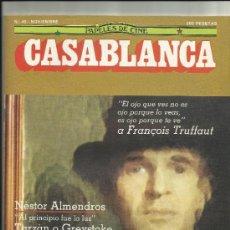 Cine: PAPELES DE CINE CASABLANCA NUM 45 1984 FRANÇOISE TRUFFAUT FESTIVAL DE SITGES SAN SEBASTIAN. Lote 34971268