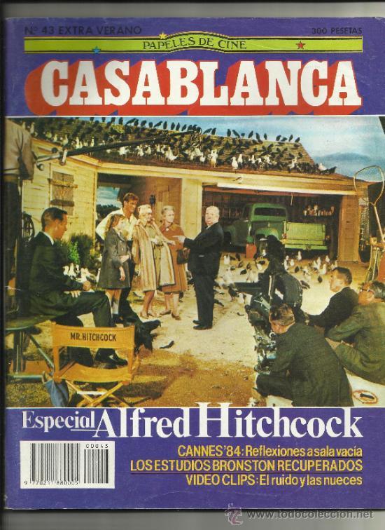 PAPELES DE CINE CASABLANCA NUM 43 EXTRA VERANO 1984 HITCHCOCK CANNES (Cine - Revistas - Papeles de cine)