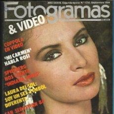 Cine: FOTOGRAMAS NUM 1700 1984 LAURA DEL SOL COPPOLA GREMLINS SAN SEBASTIAN 84. Lote 34971327