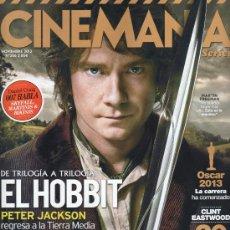 Cine: CINEMANIA N. 206 NOVIEMBRE 2012 - EN PORTADA: EL HOBBIT (NUEVA). Lote 34978954
