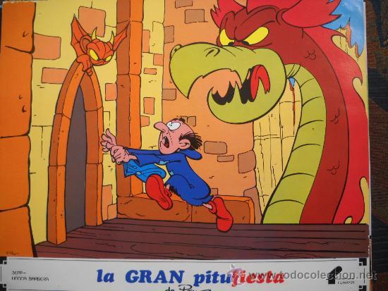 Cine: LA GRAN PITUFIESTA - 12 Lobby-Cards Filmayer - Foto 3 - 221620186