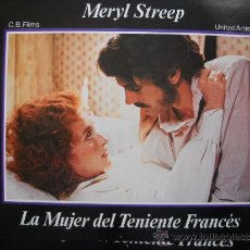 Cine: LA MUJER DEL TENIENTE FRANCES - MERYL STREEP - 12 LOBBY-CARDS DE CB FILMS. Lote 35185310