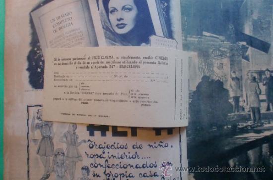 Cine: CINEMA Nº 29 01/06/1947 EL TAMBOR DEL BRUCH DE IQUINO - ROGER FURSE - JAMES STEWART - SUSAN HAYWARD - Foto 4 - 35309269