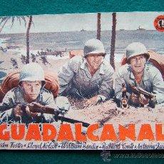 Cine: GUADALCANAL - DIRECTOR : LEWIS SEYLER - ACTORES : PRESTON FOSTER Y LLOYD NOLAN - 32 FOTOS - 194?. Lote 35310139
