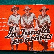 Cine: LA JUNGLA EN ARMAS - HENRY HATHAWAY - GARY COOPER - ANDREA LEEDS - DAVID NIVEN - 40 FOTOS - 194?. Lote 35311420
