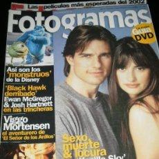 Cine: FOTOGRAMAS Nº. 1900 FEBRERO 2002 - TOM CRUISE / DAVID LYNCH / VIGGO MORTENSEN. Lote 35312029