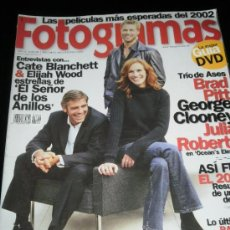 Cine: FOTOGRAMAS Nº. 1899 ENERO 2002 - CATE BLANCHETT / ELIJAH WOOD / BRAD PITT/ GEORGE CLOONEY. Lote 35312039