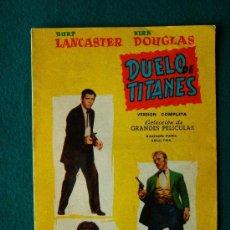 Cine: DUELO DE TITANES - JOHN STURGES - BURT LANCASTER - KIRK DOUGLAS - ARGUMENTO, DIBUJOS Y FOTOS - 1959. Lote 35312042