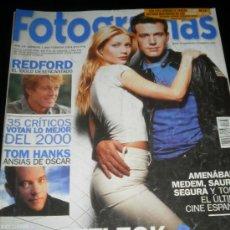 Cine: FOTOGRAMAS Nº. 1888 FEBRERO 2001 - REDFORD / TOM HAMKS / BEN AFFLECK / GWYNETH PALTROW. Lote 35312191