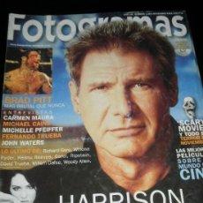 Cine: FOTOGRAMAS Nº. 1885 NOVIEMBRE 2000 - HARRISON FORD / BRAD PITT / CARMEN MAURA / FERNANDO TRUEBA. Lote 35312333