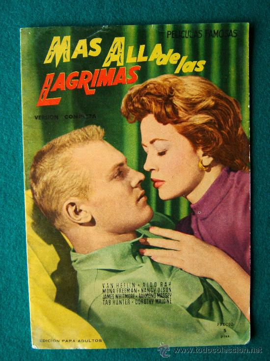 MAS ALLA DE LAS LAGRIMAS - RAOUL WALSH - VAN HEFLIN - ALDO RAY - ARGUMENTO Y FOTOS - 1958 (Cine - Revistas - Colección grandes películas)