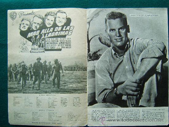 Cine: MAS ALLA DE LAS LAGRIMAS - RAOUL WALSH - VAN HEFLIN - ALDO RAY - ARGUMENTO Y FOTOS - 1958 - Foto 2 - 35312361