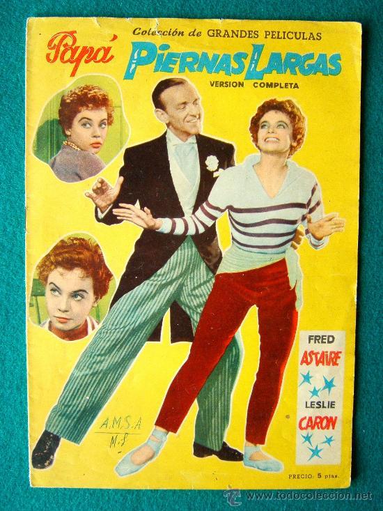 PAPA PIERNAS LARGAS - JEAN NEGULESCO - FRED ASTAIRE - LESLIE CARON - ARGUMENTO Y FOTOS - 1958 (Cine - Revistas - Colección grandes películas)