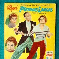 Cine: PAPA PIERNAS LARGAS - JEAN NEGULESCO - FRED ASTAIRE - LESLIE CARON - ARGUMENTO Y FOTOS - 1958. Lote 182536031