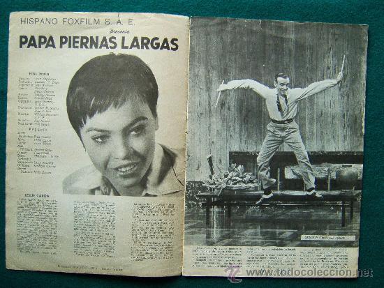 Cine: PAPA PIERNAS LARGAS - JEAN NEGULESCO - FRED ASTAIRE - LESLIE CARON - ARGUMENTO Y FOTOS - 1958 - Foto 2 - 182536031