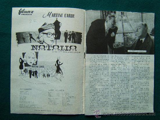Cine: NATALIA - CHRISTIAN JAQUE - MARTINE CAROL - MISHA AUER - MICHEL PICCOLI - ARGUMENTO Y FOTOS - 1959 - Foto 2 - 35312599