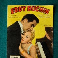 Cine: EDDY DUCHIN - GEORGE SIDNEY - TYRONE POWER - KIM NOVAK - ARGUMENTO Y FOTOS - 1959. Lote 35312728