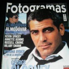 Cine: FOTOGRAMAS Nº. 1878 ABRIL 2000 - GEORGE CLOONEY / ALMODOVAR / KEVIN SPACEY / RUSELL CROWE. Lote 35312986