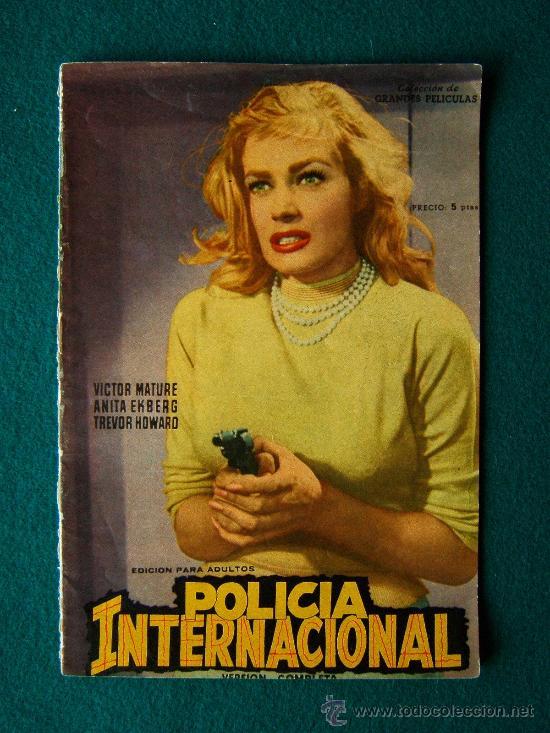 POLICIA INTERNACIONAL - JOHN GILLING - VICTOR MATURE - ANITA EKBERG - ARGUMENTO Y FOTOS - 1959 (Cine - Revistas - Colección grandes películas)