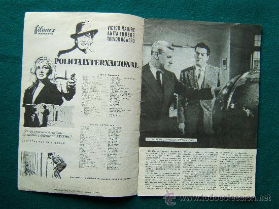 Cine: POLICIA INTERNACIONAL - JOHN GILLING - VICTOR MATURE - ANITA EKBERG - ARGUMENTO Y FOTOS - 1959 - Foto 2 - 35313117