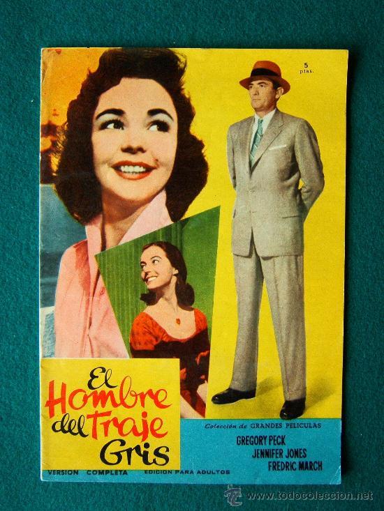EL HOMBRE DEL TRAJE GRIS - NUNNALLY JOHNSON - GREGORY PECK -JENNIFER JONES- ARGUMENTO Y FOTOS - 1959 (Cine - Revistas - Colección grandes películas)