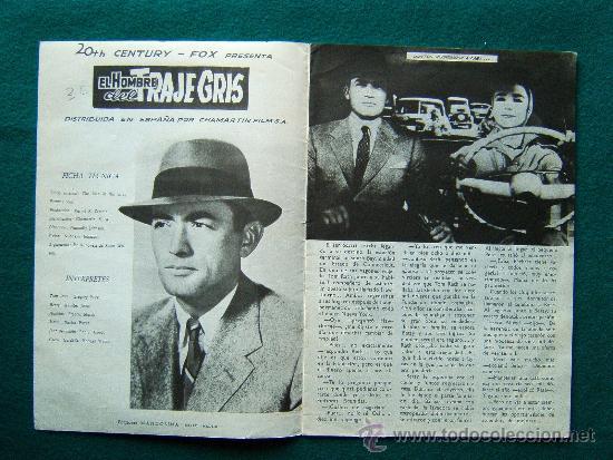 Cine: EL HOMBRE DEL TRAJE GRIS - NUNNALLY JOHNSON - GREGORY PECK -JENNIFER JONES- ARGUMENTO Y FOTOS - 1959 - Foto 2 - 35313299