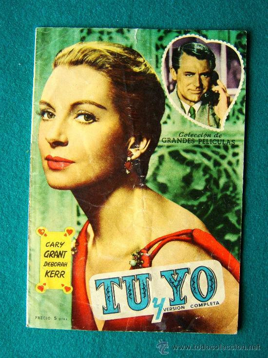 TU Y YO - LEO MCCAREY - CARY GRANT - DEBORAH KERR - ARGUMENTO Y FOTOS - 1959 (Cine - Revistas - Colección grandes películas)
