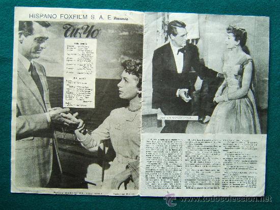 Cine: TU Y YO - LEO McCAREY - CARY GRANT - DEBORAH KERR - ARGUMENTO Y FOTOS - 1959 - Foto 2 - 35313467